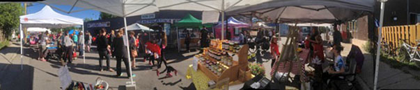 View from our booth at the Acton Market Opening Day
